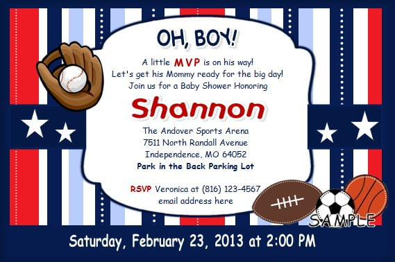 Sports Themed Baby Shower Ideas Free Printable