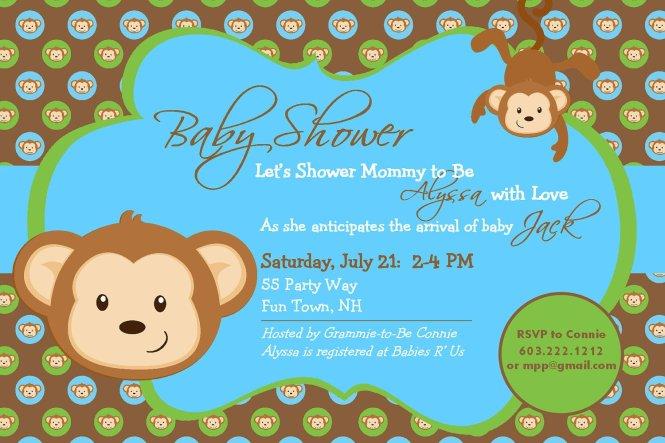 Monkey Baby Shower Ideas Free