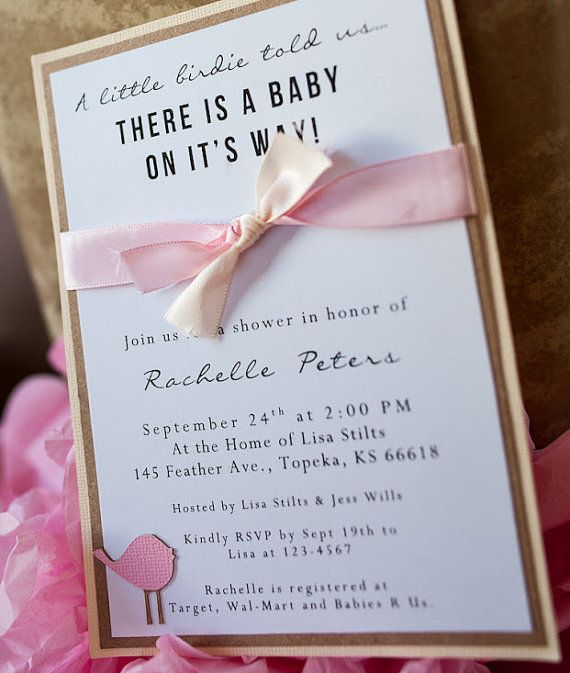 How To Make Homemade Baby Shower Invitations
