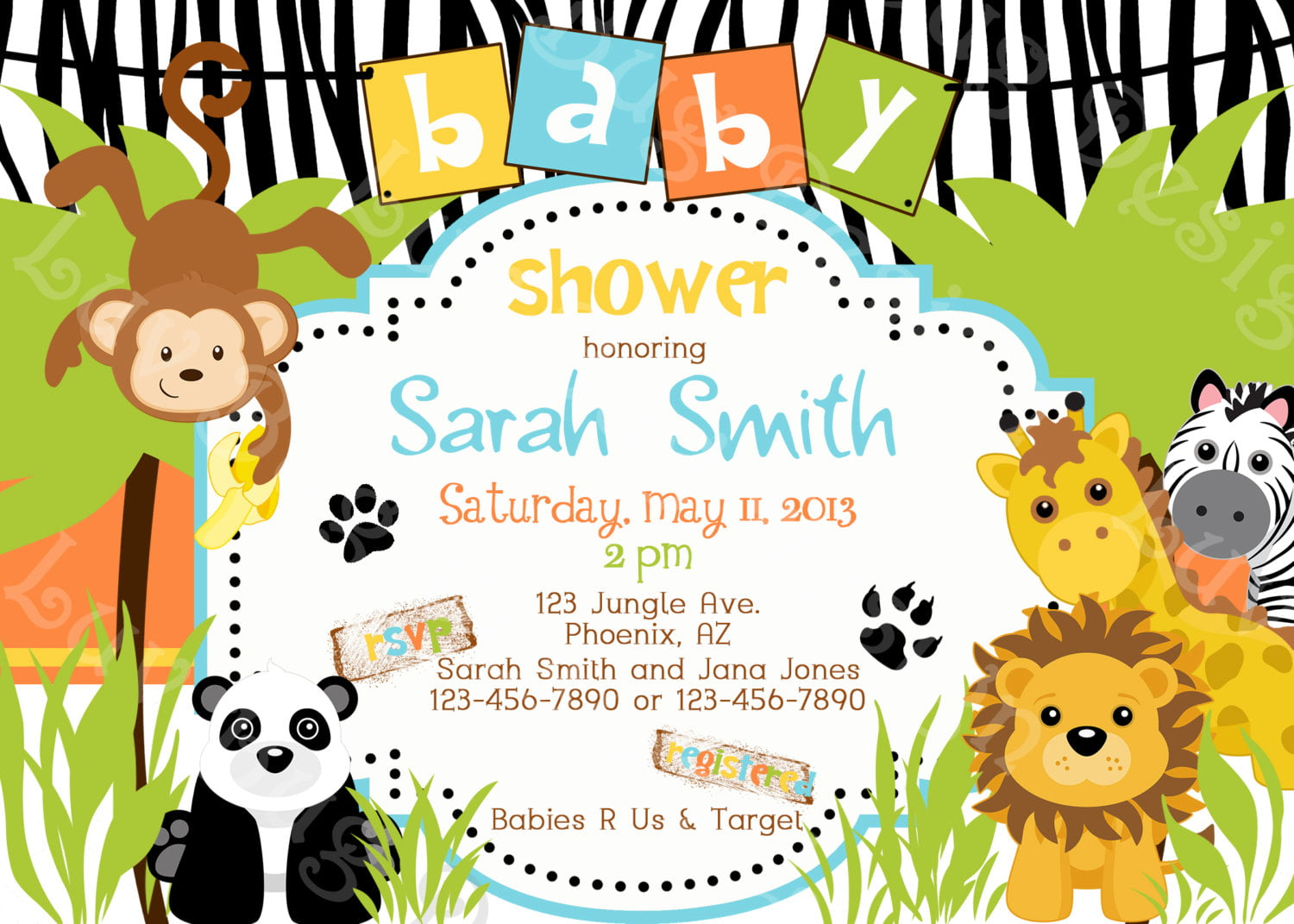 Safari Themed Baby Shower For Limited Budget
