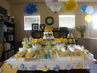 Rubber Ducky Baby Shower Decoration Ideas | FREE Printable ...