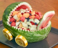 How To Make Watermelon Fruit Bowl For Baby Shower | FREE ...