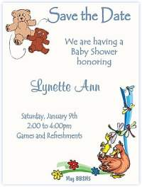Save The Date Baby shower Theme Ideas