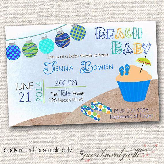 Beach Baby Shower Invitations Free