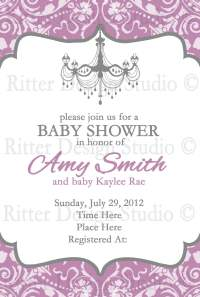 Fancy Baby Shower Invitations | FREE Printable Baby Shower ...