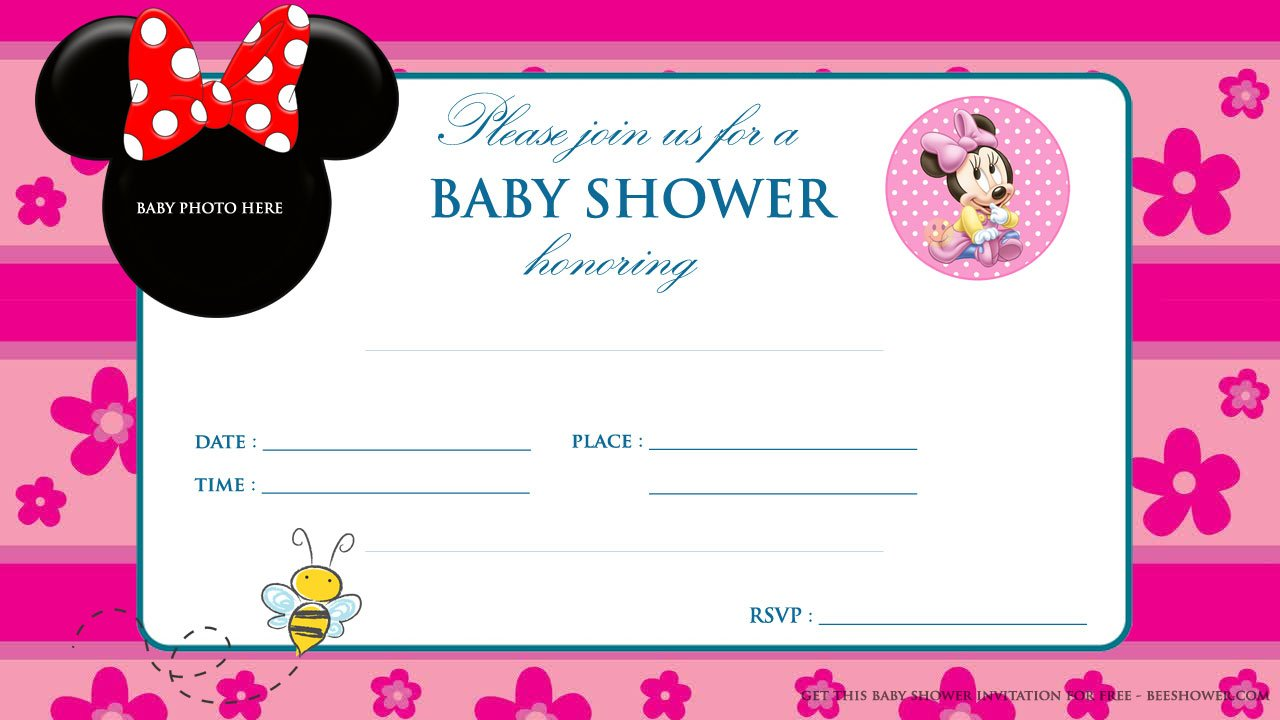 Baby Minnie Mouse Invitations Template