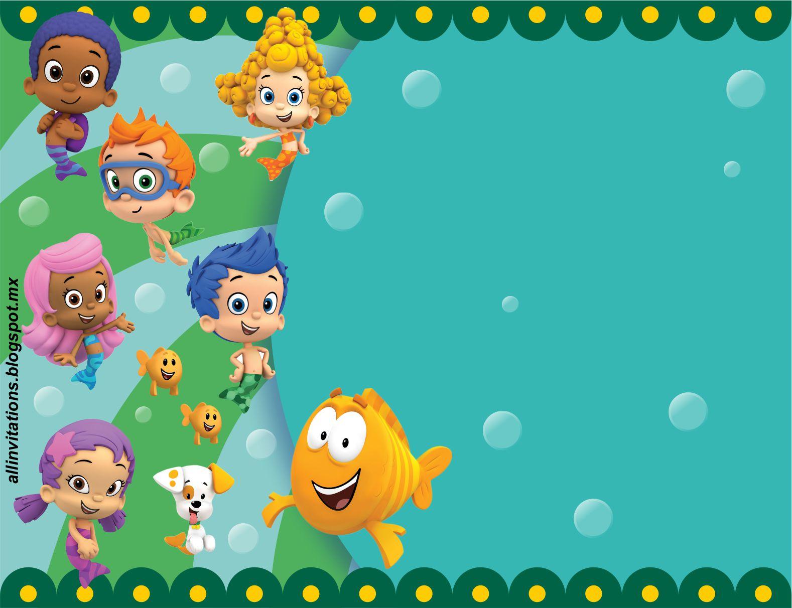 Free Printable Bubble Guppies Baby Shower Invitation Ideas