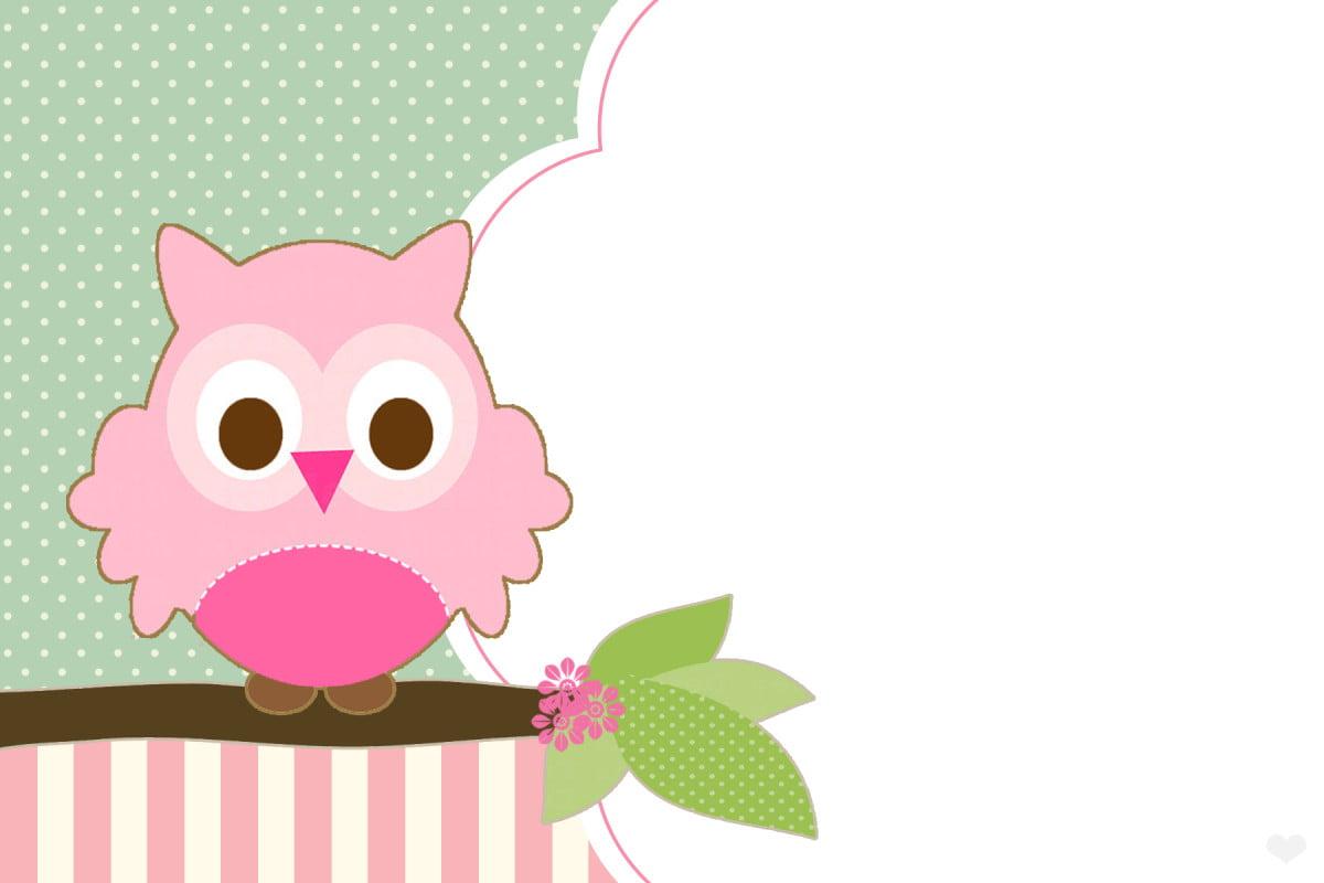 Free Printable Cute Birds Baby Shower Invitation Idea