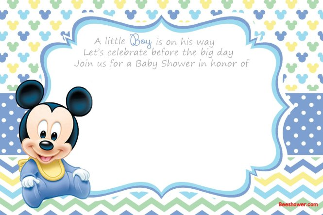 New Free Printable Mickey Mouse Baby Shower Invitation