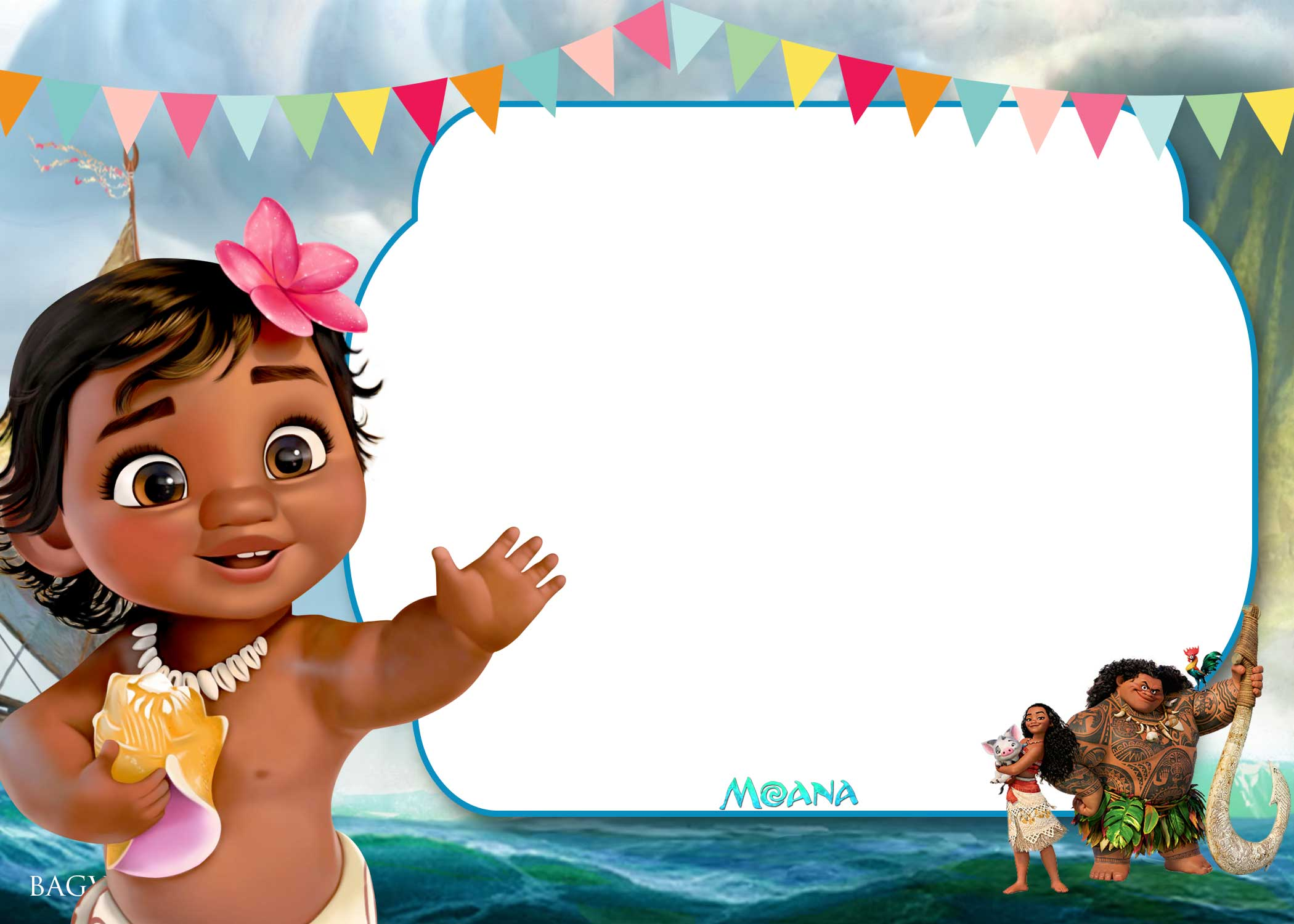 Beach Themed Shower Invitations
