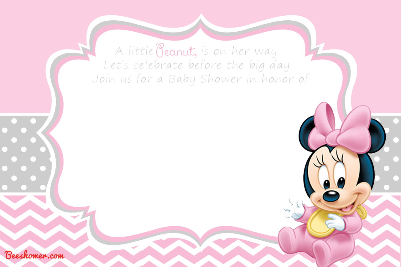 Shower Baby De Hacer Mouse Como Invitaciones Minnie Para