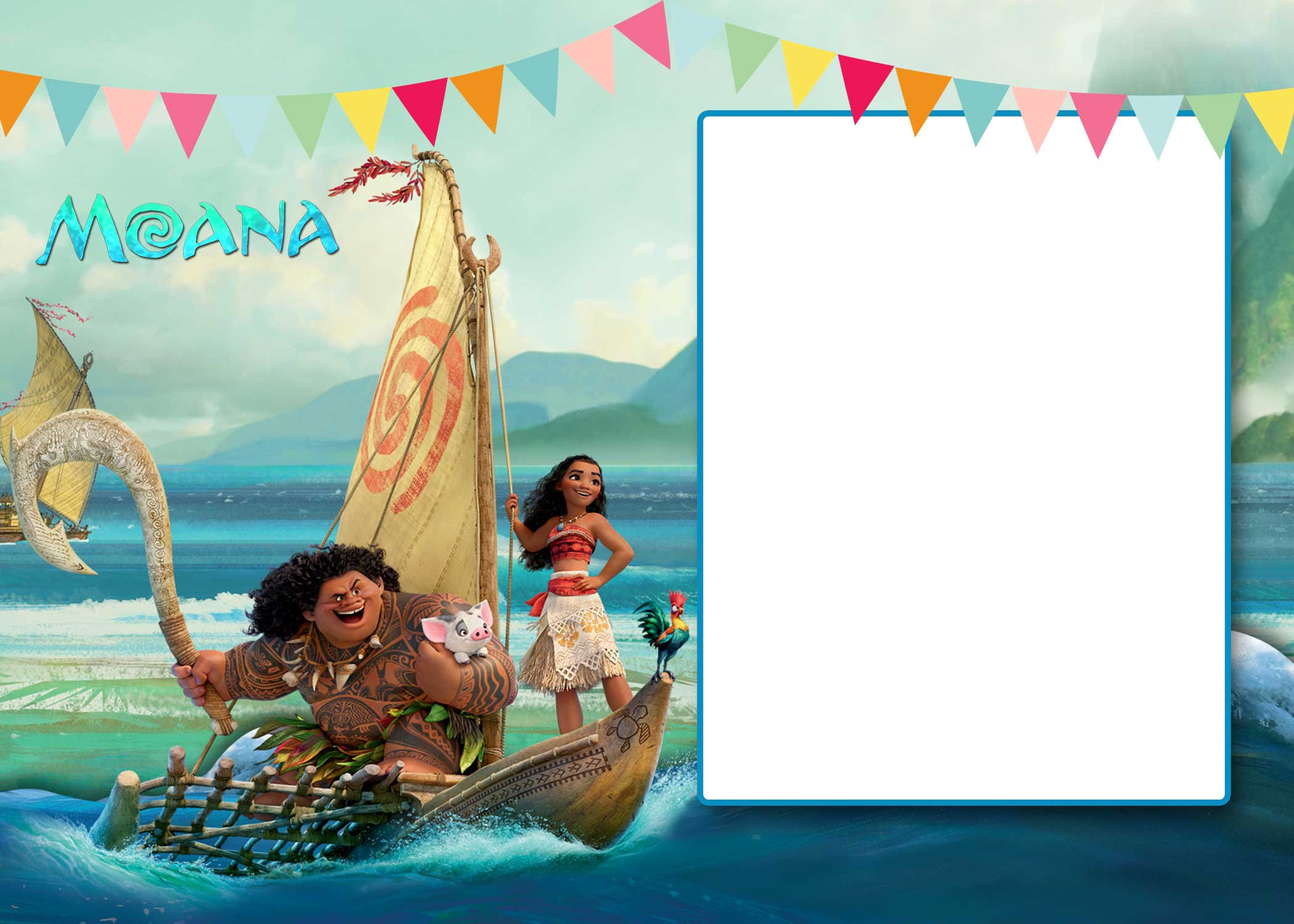 FREE Moana Baby Shower Invitation Template FREE