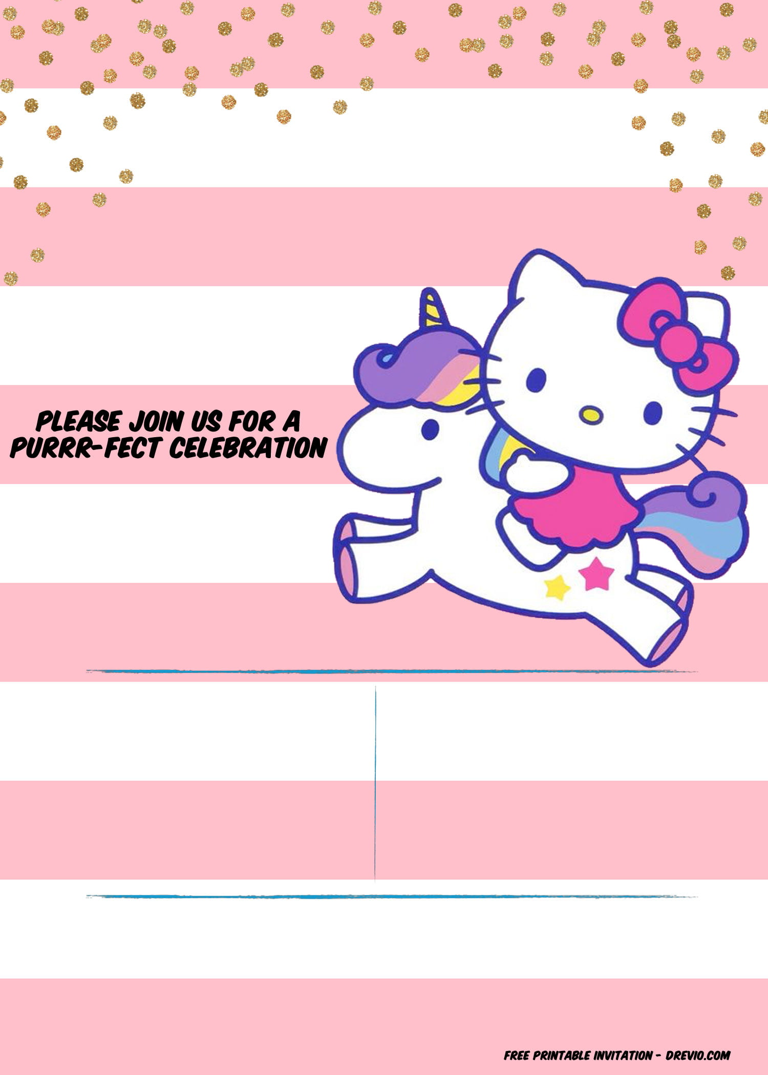 FREE Unicorn Baby Shower Invitation Templates FREE