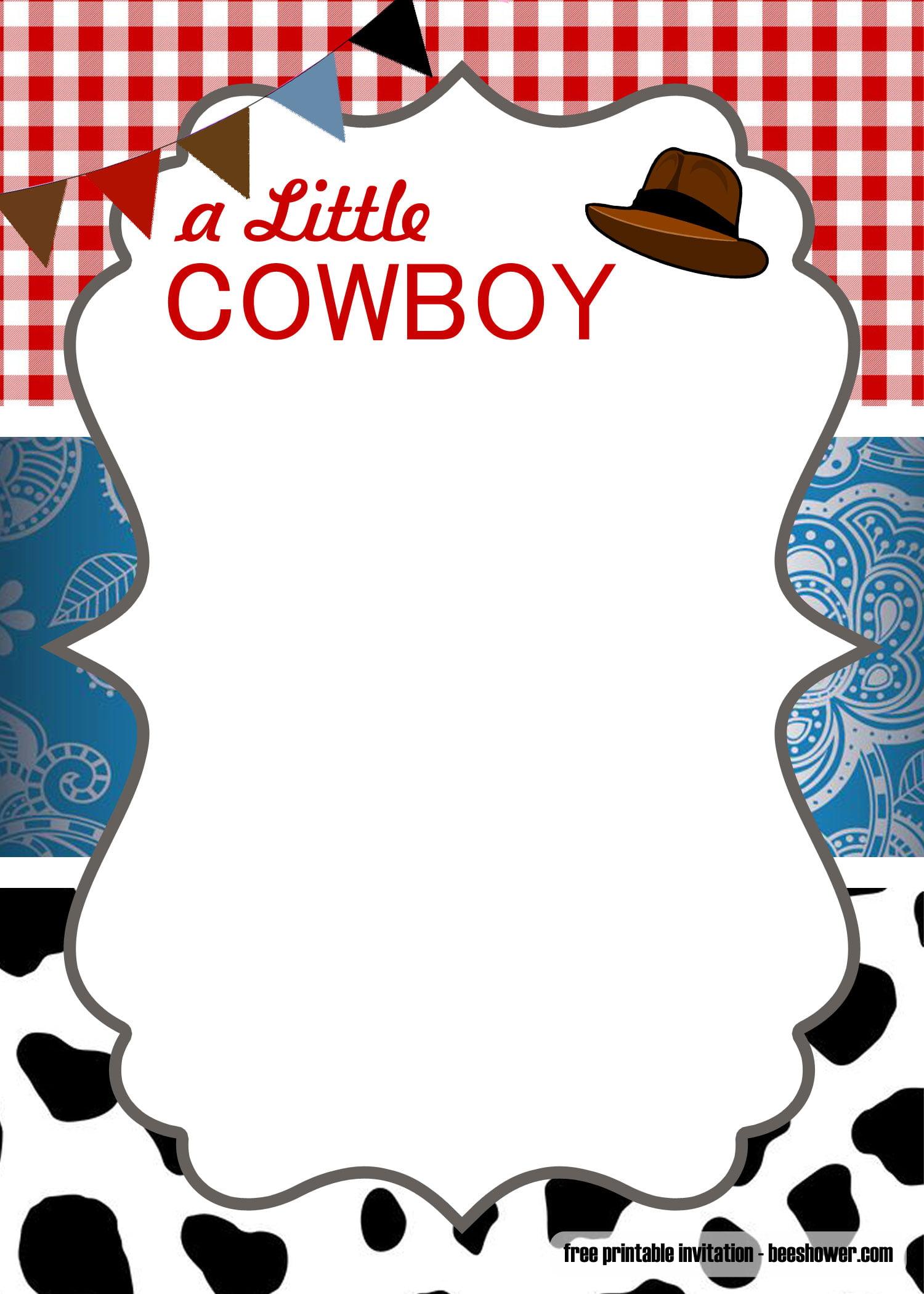 Free Cowboy Baby Shower Invitation Templates