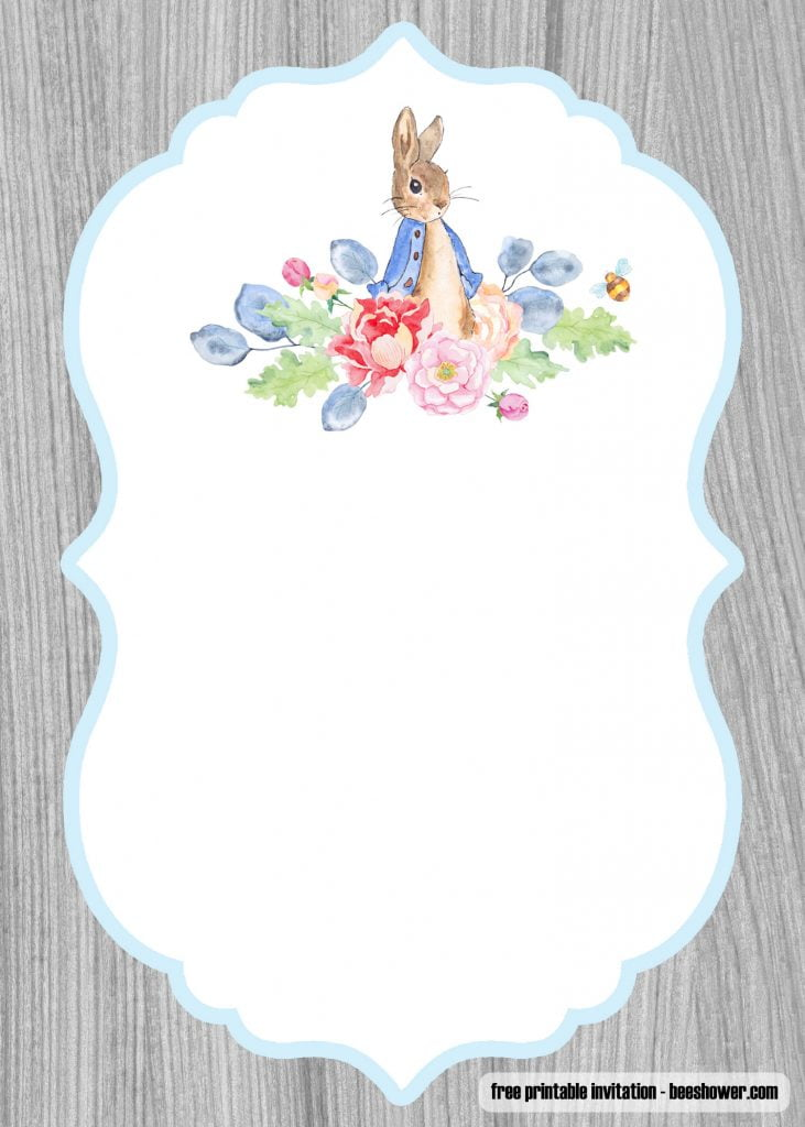 Baby Girl Floral Wallpaper Free Peter Rabbit Baby Shower Invitations Templates Free