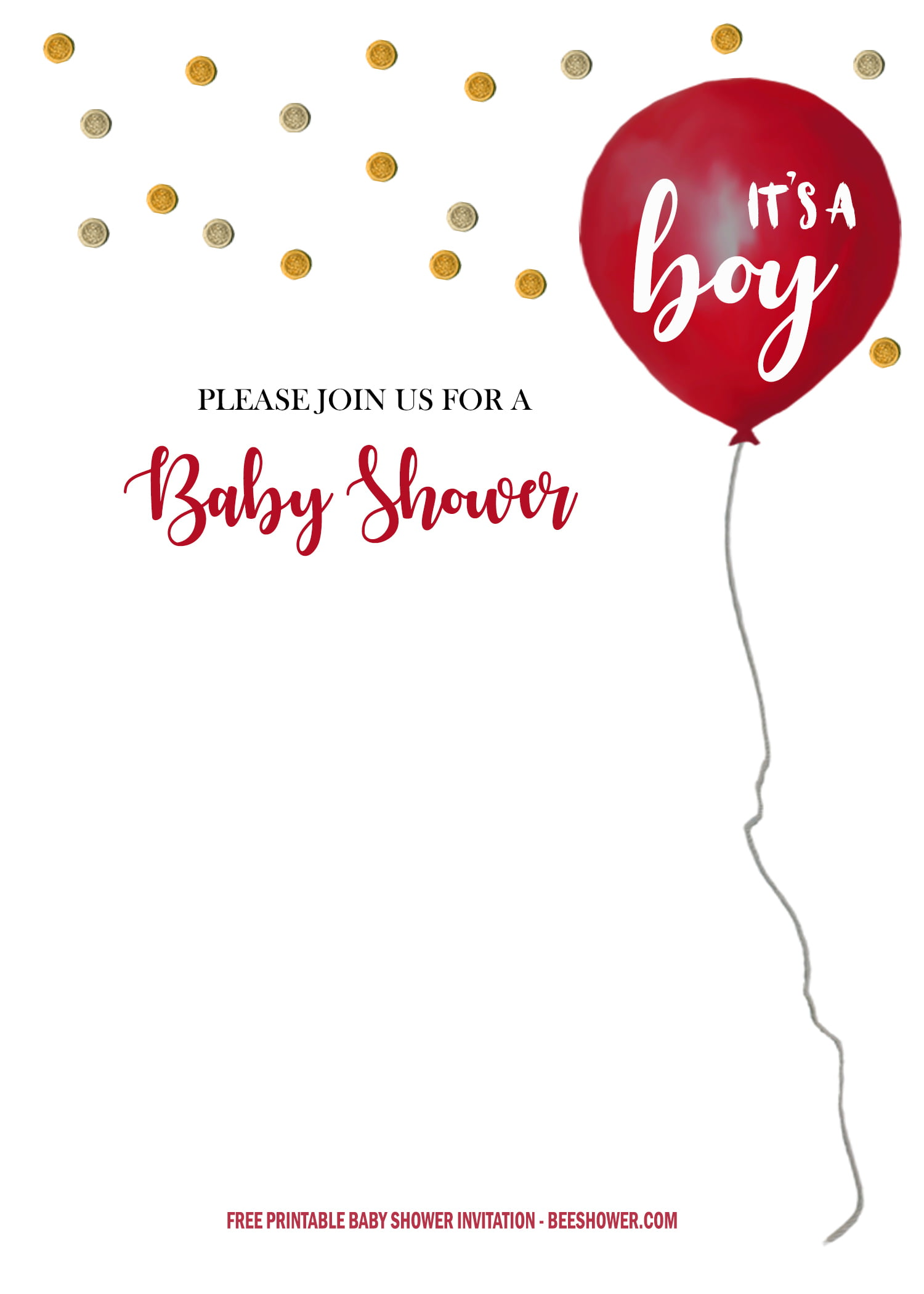 Free It S A Boy Baby Shower Invitation Templates