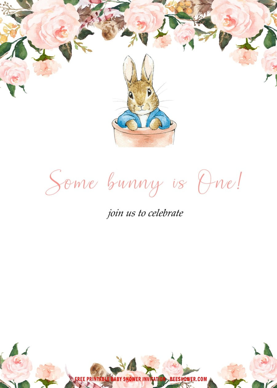 free printable some bunny baby shower