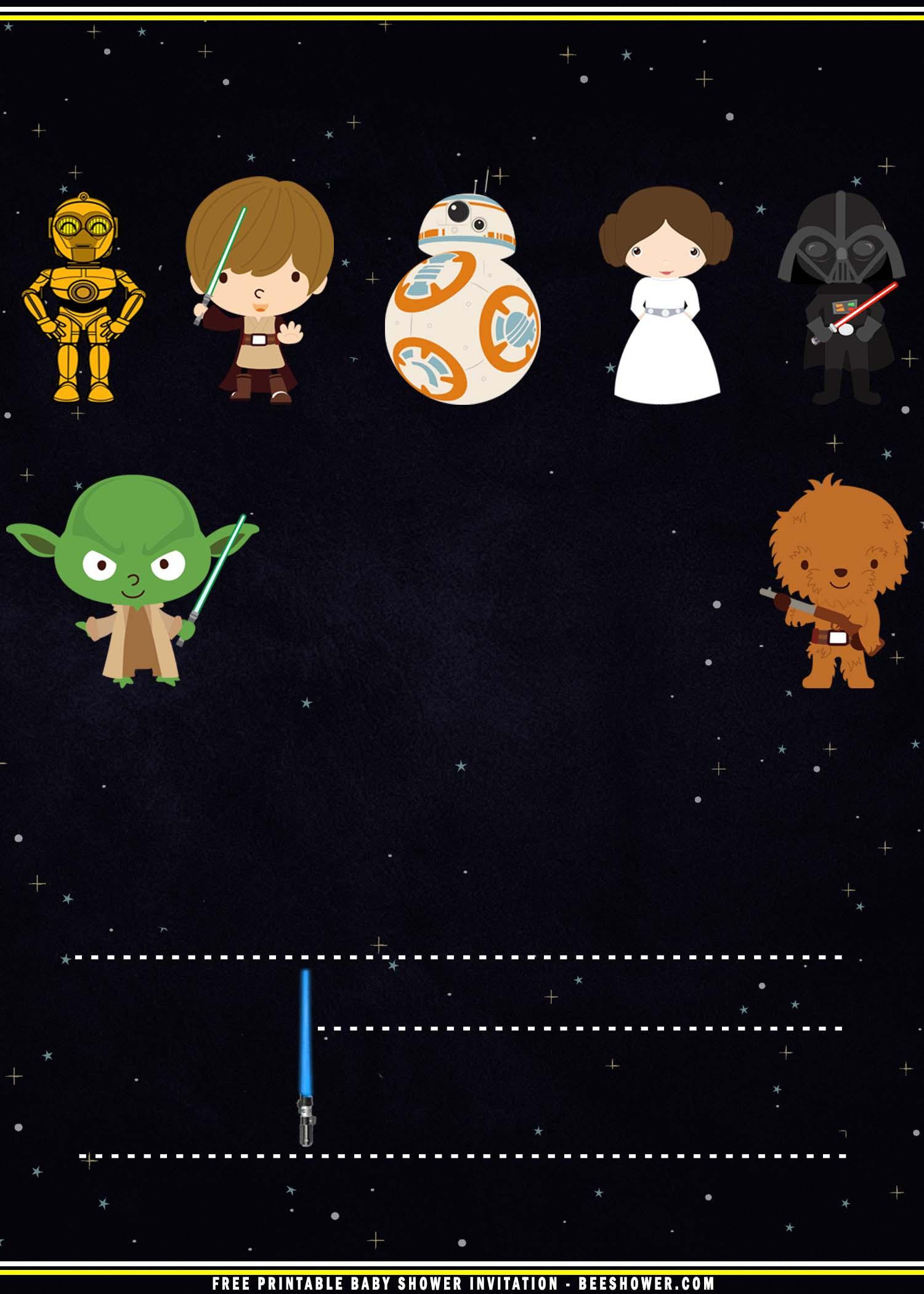 Free Printable Baby Star Wars Invitation Templates