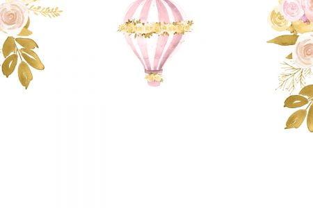 Glitter Hot Air Balloon Baby Shower