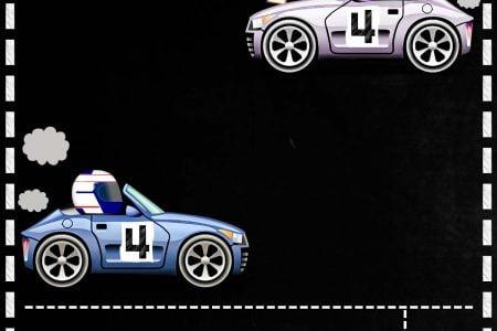 free printable race car baby shower