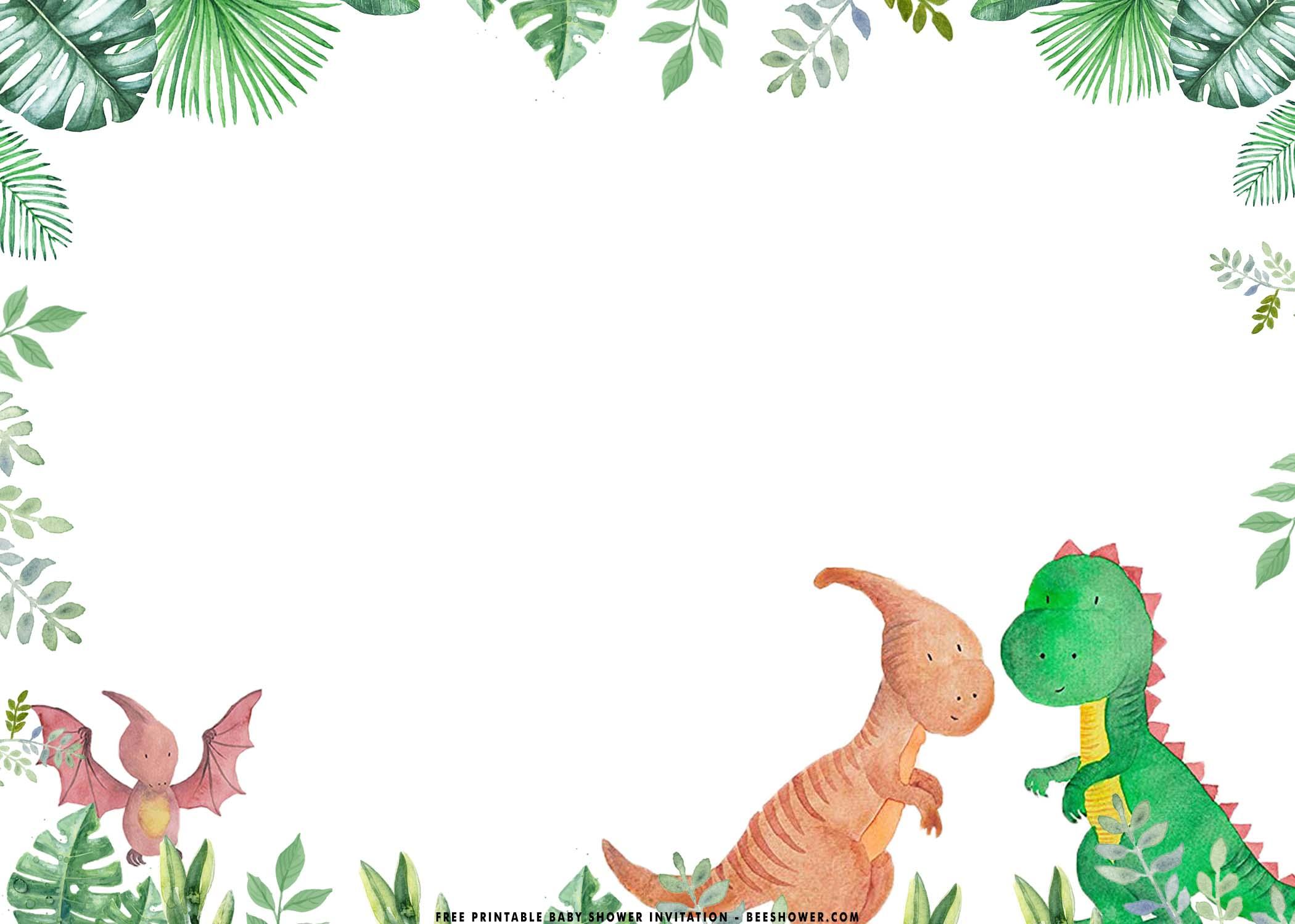 free printable dinosaur baby shower