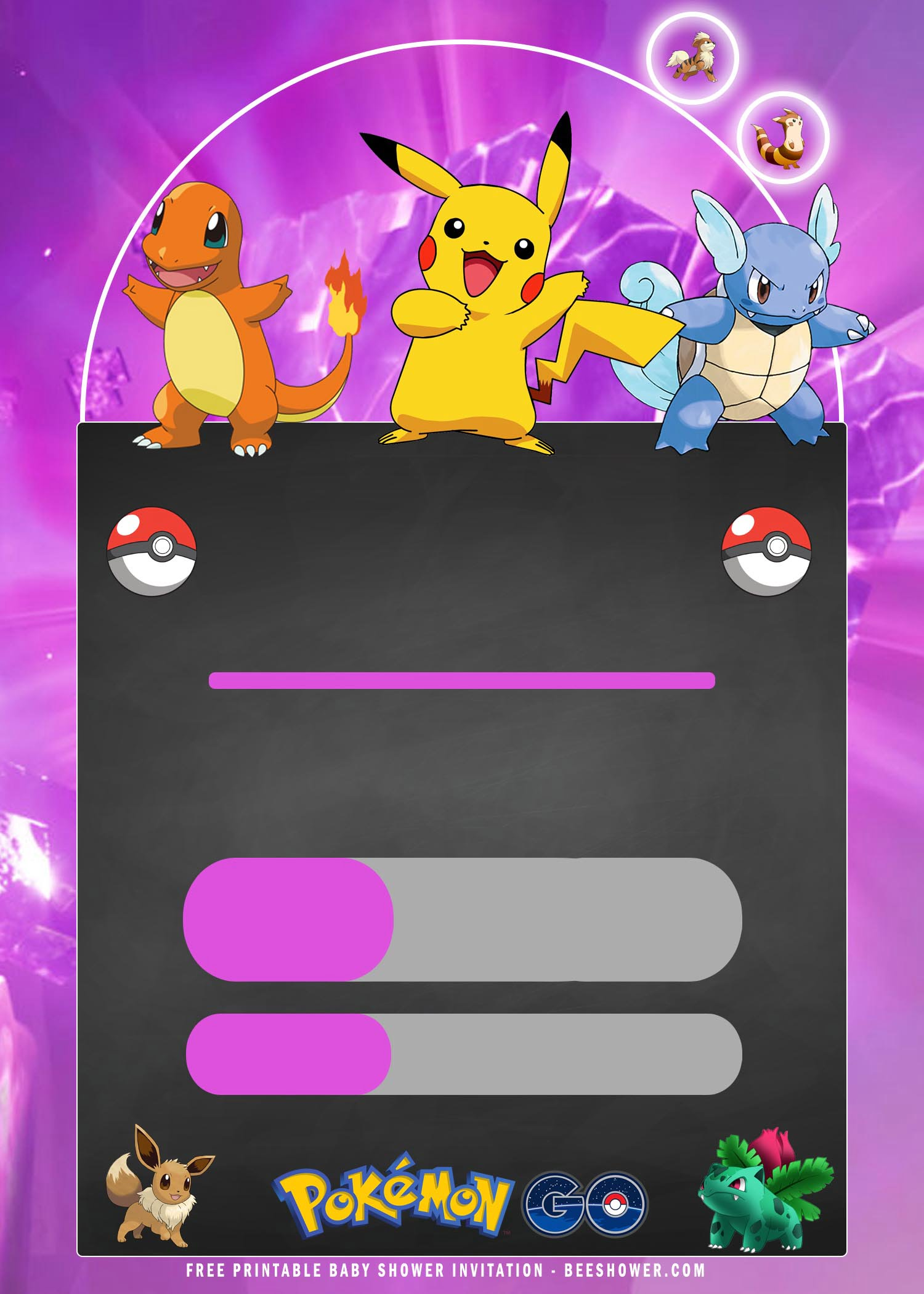 pokemon birthday invitation templates