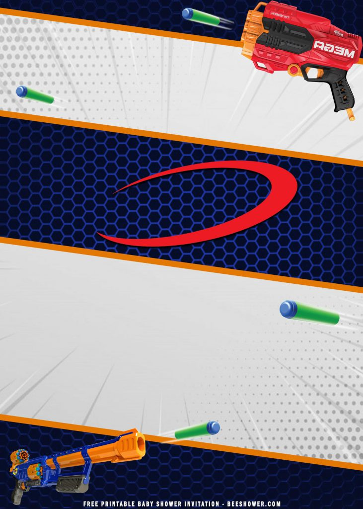 cool nerf party invitation templates