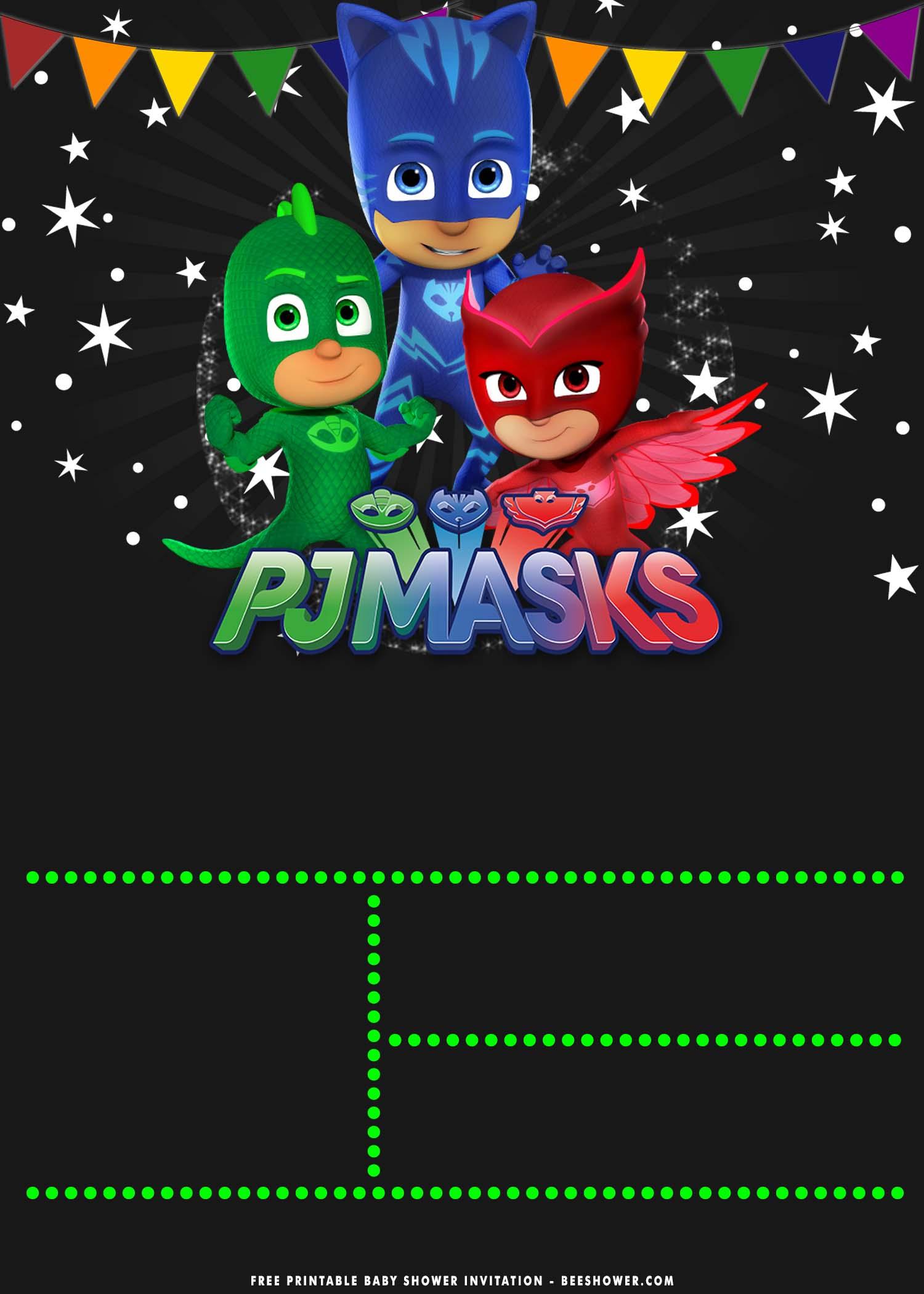 free printable pj mask baby shower