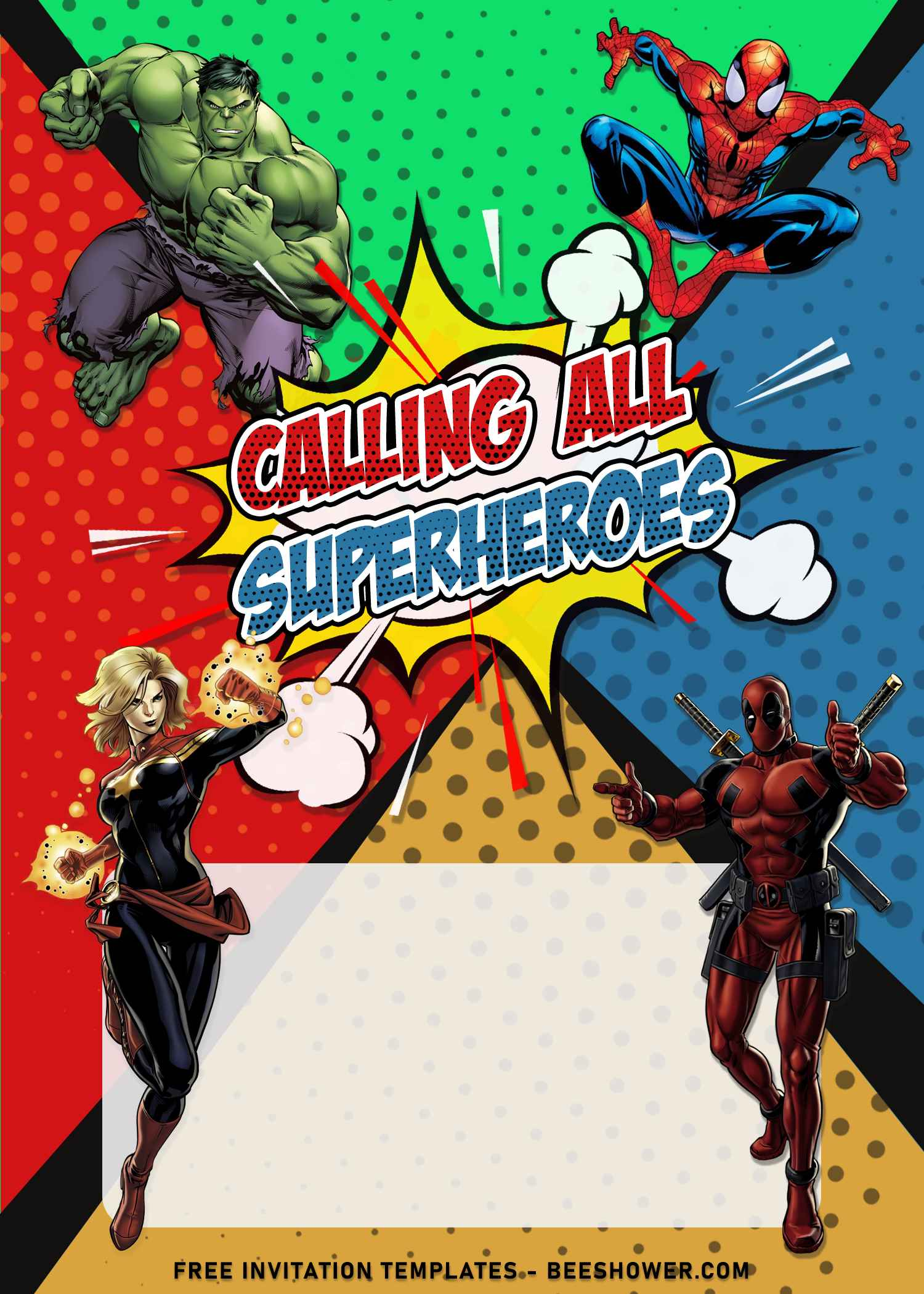 superhero avengers birthday invitation