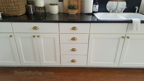 painted white kitchen cabinets gold hardware