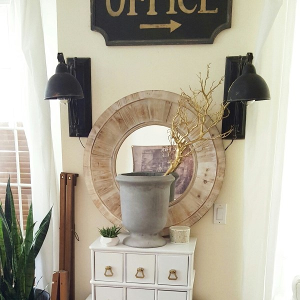 Apothecary Cabinet Makeover – Living Room Summer Refresh