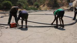 Building the frame for the fishing net