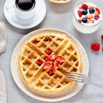 crispy waffles with whole grain flour