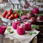 roasted beet panna cotta