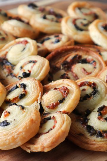savory tapenade palmiers