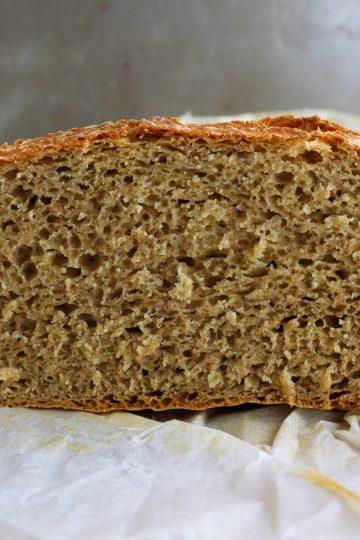 how to bake no-knead multigrain bread