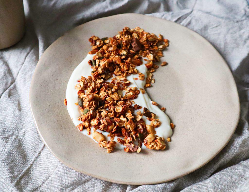 Chocolate Chunk Peanut Butter Granola