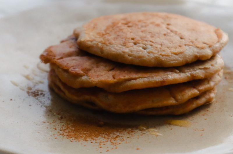 Fluffy Cinnamon Oat Pancakes