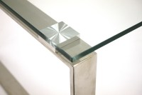 Glass Coffee Tables for Hire - Silver Metal Frame - BE ...
