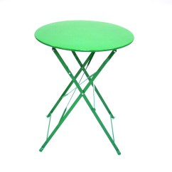Green Metal Bistro Chairs Ergonomic Recliner Chair Reviews Folding Table And Sets For Hire
