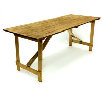 Wooden Rustic Trestle Table Hire - 6x 26 Trestle Table ...