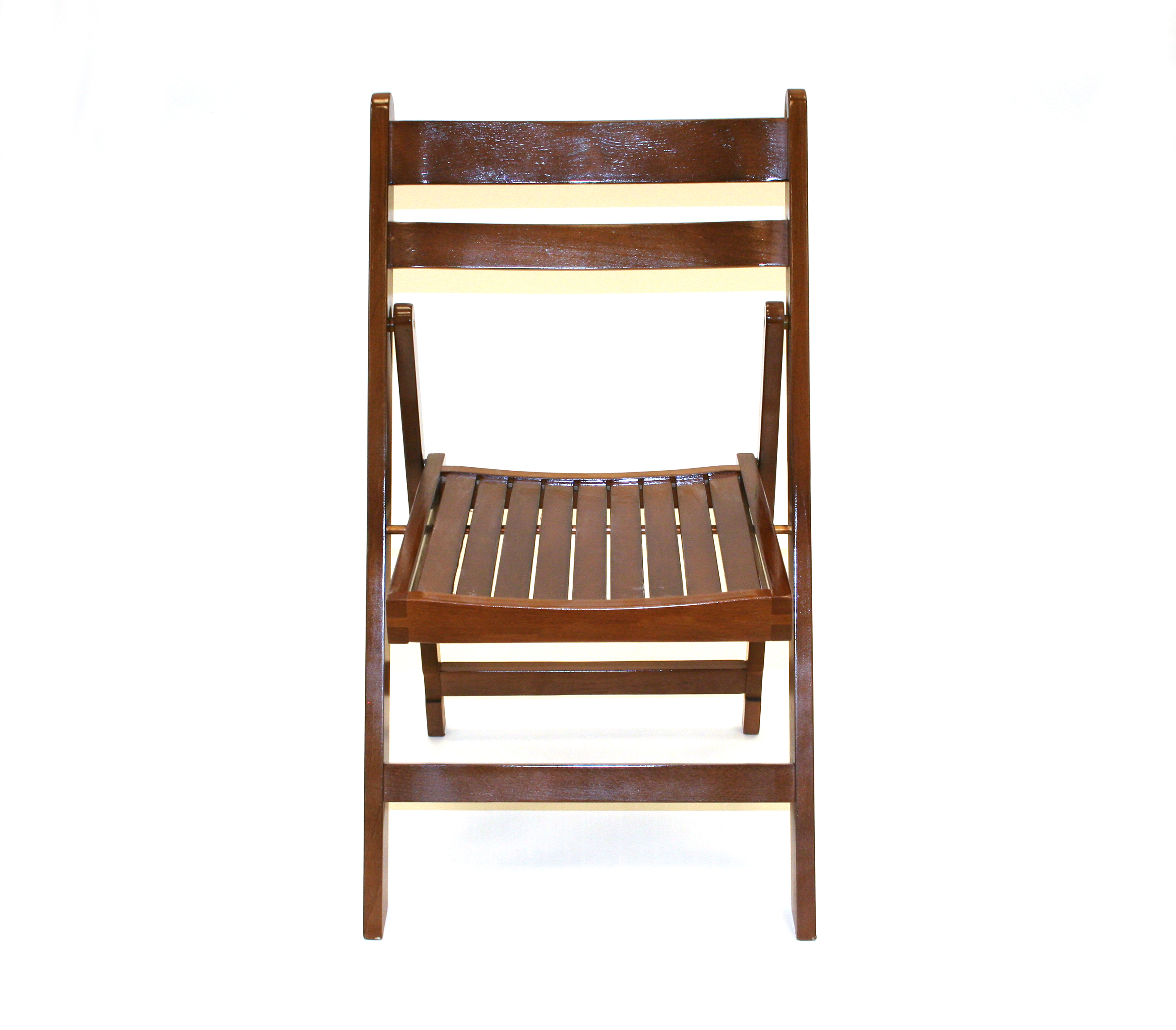 Brown Wooden Folding Chair Hire  Events Weddings  BE