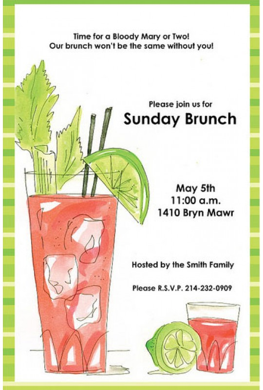 brunch invitations bloody mary rosanne beck brunch invitations bloody mary rosanne beck