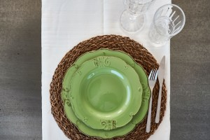 table setting vacation villa in Puglia