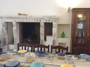 Historic Fireplace Villa Elena