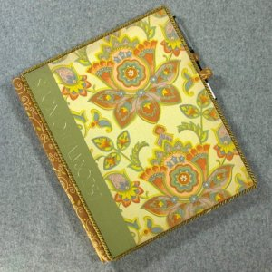 The Art of Sewing: Decorative Techniques Vintage Book Padfolio