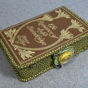 The Romance of John Bainbridge Vintage Book Clutch Purse