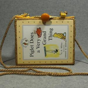 Piglet Does a Very Grand Thing  Vintage Book Phone Purse