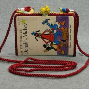 Les Aventures De Donald et Mickey Vintage Book Phone Purse