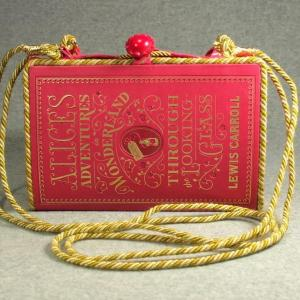 Alice Adventures in Wonderland Vintage Book Shoulder Purse